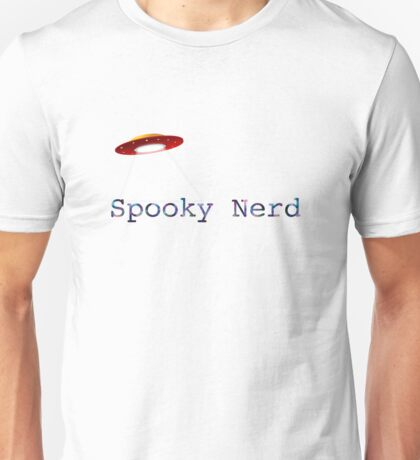 Spooky Nerd with UFO Unisex T-Shirt