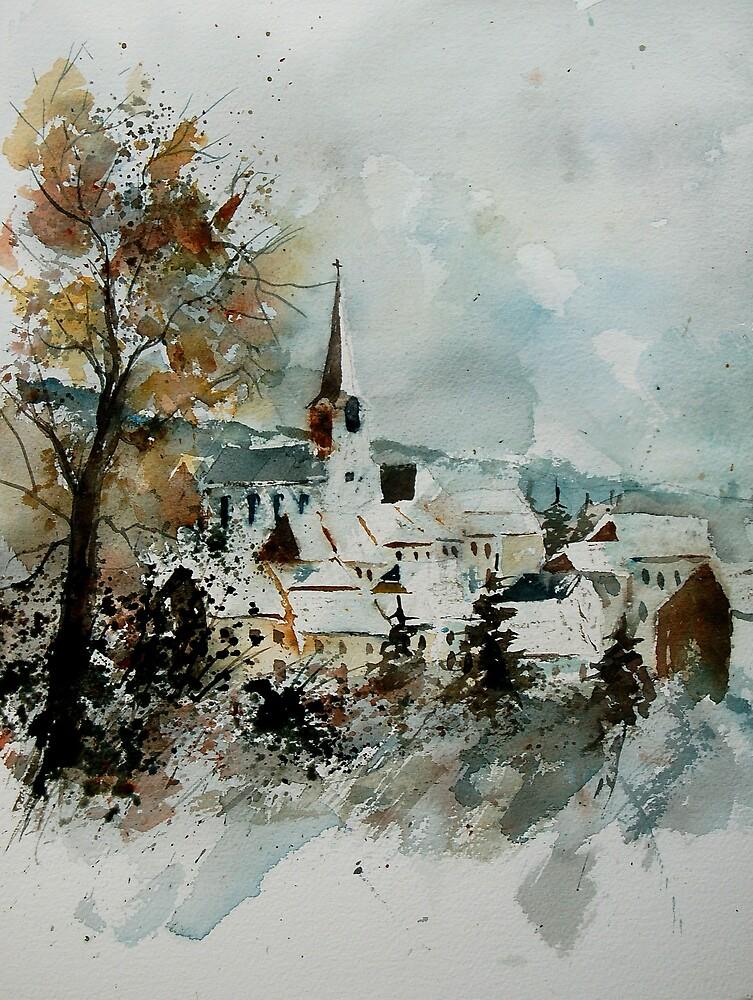watercolor houyet  by calimero