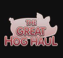 Glitch Overlay The Great Hog Haul logo Kids Tee