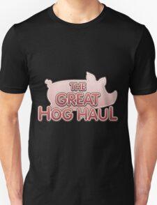 Glitch Overlay The Great Hog Haul logo Unisex T-Shirt