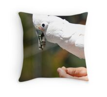 Cash Loving Cockatiel Throw Pillow