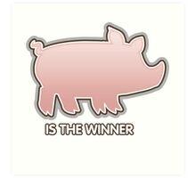 Glitch Overlay The Great Hog Haul Winner Art Print
