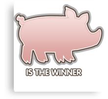 Glitch Overlay The Great Hog Haul Winner Canvas Print