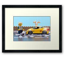 Lego car wash Framed Print