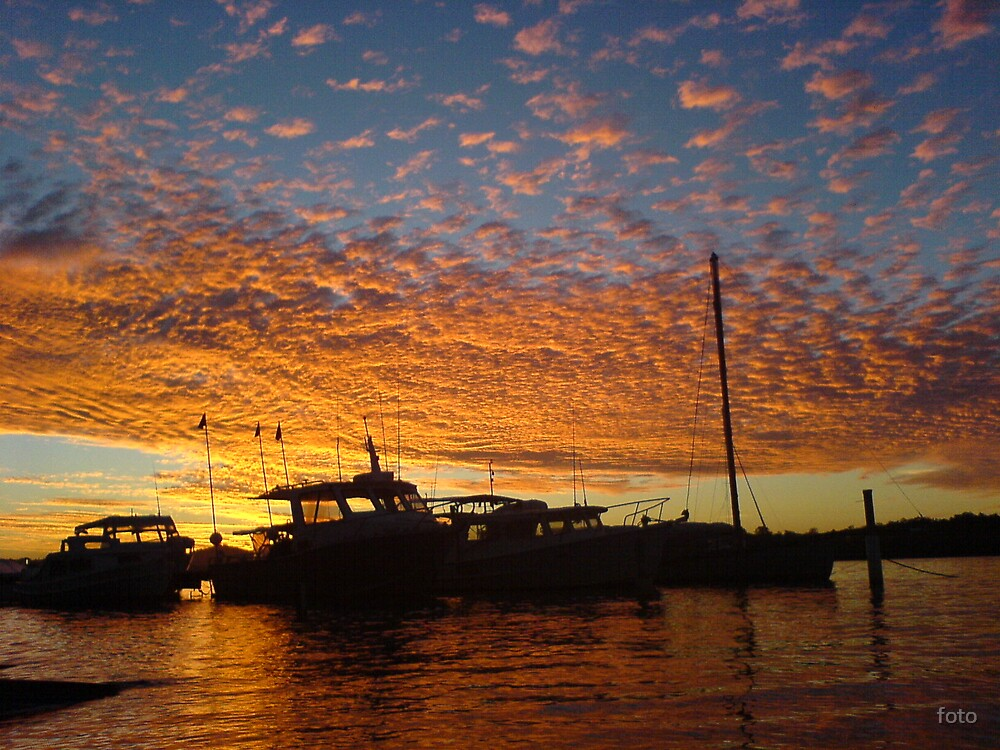 Noosa River Sunset by foto