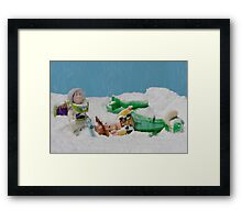 I thought they smelled bad on the outside! Framed Print