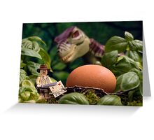Lego T-Rex egg Greeting Card