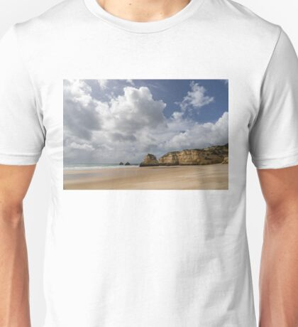Winter Beach - Clearing Storm on Praia da Rocha Algarve Portugal  Unisex T-Shirt