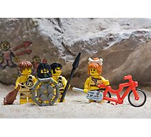 Inventing the wheel - Lego style Photographic Print
