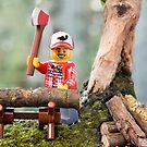 Lego Lumberjack by Kevin  Poulton - aka 'Sad Old Biker'