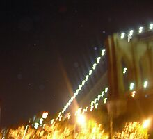 Lights of Brooklyn Bridge by Jenny O'Connell