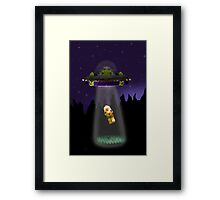 Lego Alien Abduction Framed Print