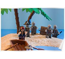 Lego Captain Jack Sparrow and the wrong zombies Poster