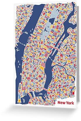 New York City Map by Vianina