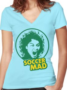 Soccer Mad Women's Fitted V-Neck T-Shirt