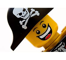 Happy Lego Pirate Photographic Print