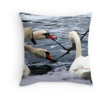 sqabble gobble Throw Pillow