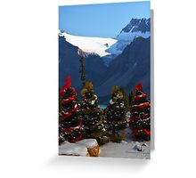 Christmas in the Canadian Rockies Greeting Card