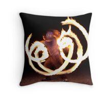 Fire Reflection Throw Pillow