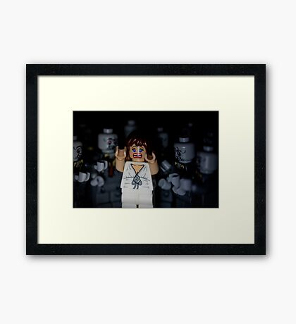 Lego Zombies - close up Framed Print