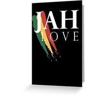 Jah Love ( WHITE ) Greeting Card