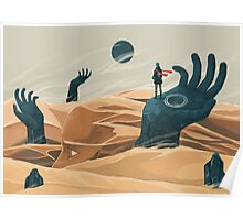 The wanderer and the desert portals Poster