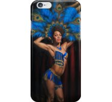 Jeez Loueez Burlesque Dancer with Peacock Headdress iPhone Case/Skin