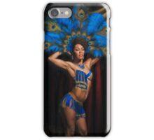 Jeez Loueez Burlesque Dancer with Peacock Headdress iPhone Case/Skin