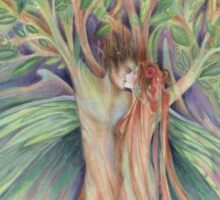 Tree Spirits Fairy Lovers from the original painting by Liza Paizis Sticker