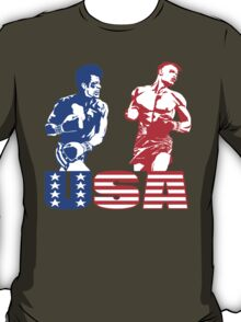 Rocky IV - Rocky Balboa vs Ivan Drago - Sylvester Stallone vs Dolph Lundgren - America vs Communism - Ultimate Showdown T-Shirt