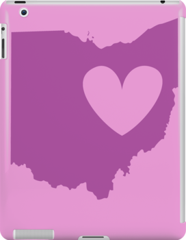 Ohio is Where the Heart is (Purple) by Ariel James