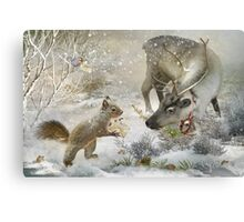 You work for Santa don't you? Canvas Print