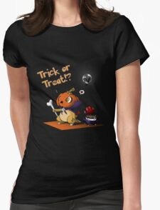 Cute Cubone playing Trick or Treat!  Womens Fitted T-Shirt