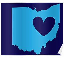 Ohio is Where the Heart is (Blue) Poster