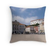 Euro Location Throw Pillow