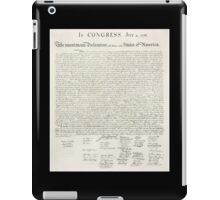 Declaration of Independence, United States of America, American Independence,USA iPad Case/Skin