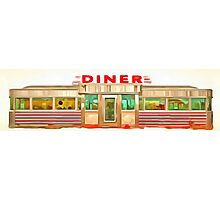 Classic Americana Diner Pop Photographic Print