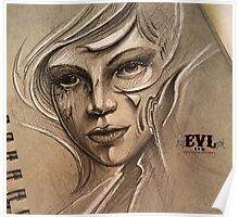 EVL INK ART - GIRL Poster