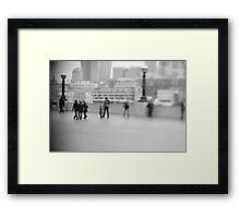 free lensing Framed Print