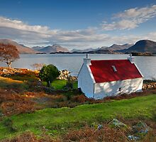 The famous Red Roof cottage at Loch Shieldaig Scotland by Martin Lawrence