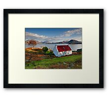 The famous Red Roof cottage at Loch Shieldaig Scotland Framed Print