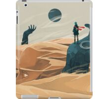The wanderer and the desert portals iPad Case/Skin