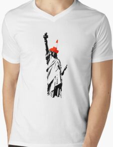 Lady Liberty Mens V-Neck T-Shirt