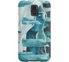 The wanderer and the ice forest Samsung Galaxy Case/Skin