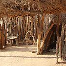 Inside Hut Namebia by Gilberte