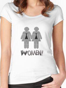 Women! Women's Fitted Scoop T-Shirt