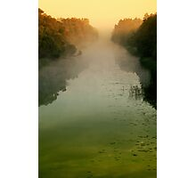 Sunrise in morning mist Photographic Print