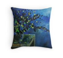 Blue bunch Throw Pillow