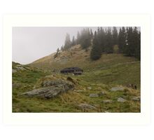 Mountain sheepfold Art Print