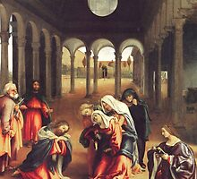'Christ Bids Farewell To His Mother' by Lorenzo Lotto by Legacy1Gallery